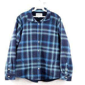 Vintage Orvis Fleece Lined Flannel Shirt Jaket